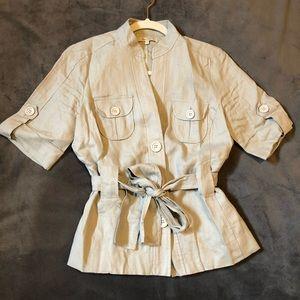 RW&Co button down linen jacket